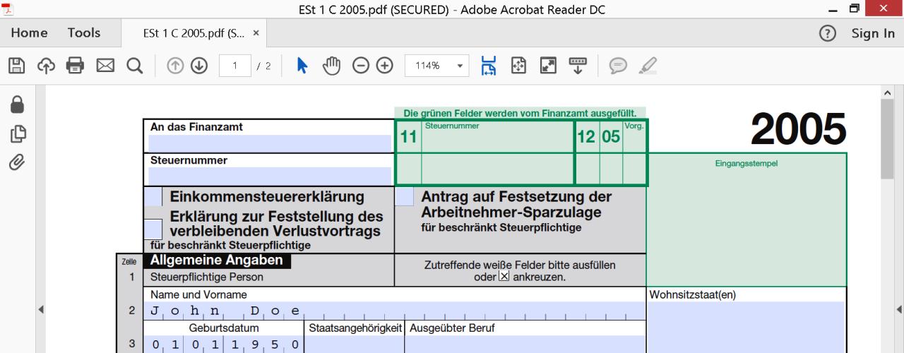 beispiel formular html